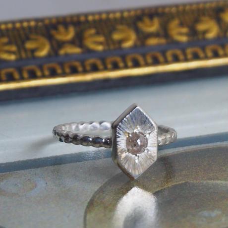 14号0.21ctシャンパンカラー・ナチュラルダイヤモンド リング