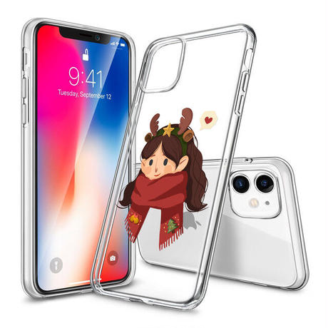 【新品】iPhone 12 シリーズ 保護ケース クリスマス女性ver