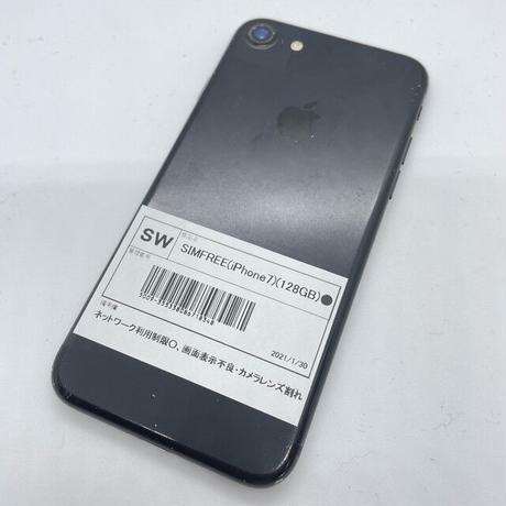 【ジャンク】SIMFREE iPhone 7 128GB ブラック(一点モノ)
