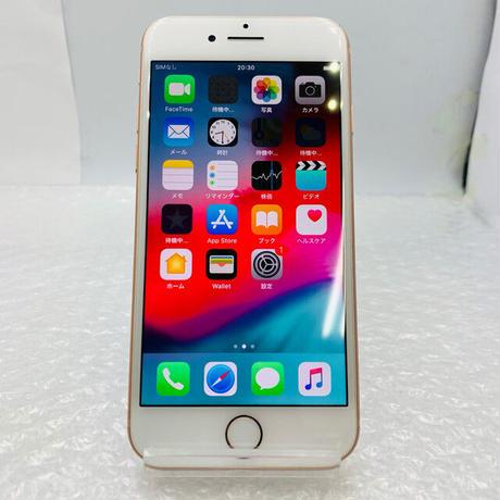 B05【中古Cランク】SIM FREE au iPhone 8 256GB ゴールド (一点モノ)