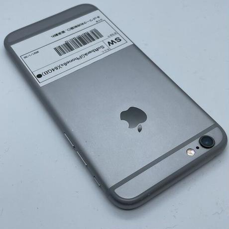 B12【ジャンク】Softbank iPhone 6s 64GB スペースグレイ(一点モノ)
