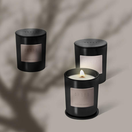 <BLACK BLAZE> RAINFOREST SUNLIGHT SCENTED CANDLE