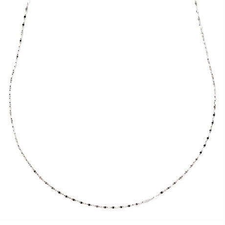 victoria long necklace white gold