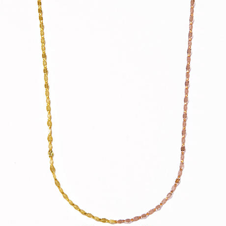 victoria double necklace  pink gold×yellow gold