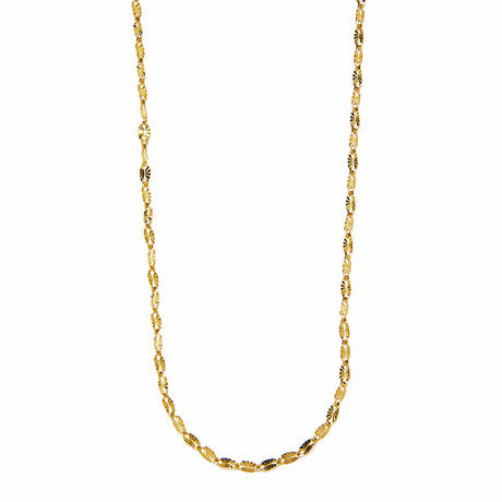 sunlight long necklace / yellow gold