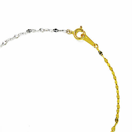 victoria double bracelet  yellow gold × white gold