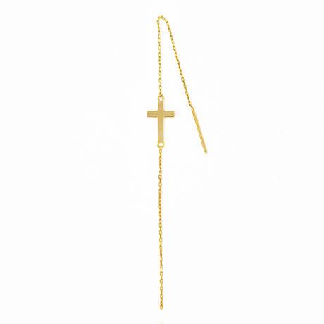 cross chain pierce(single)【クロスチェーンピアス】