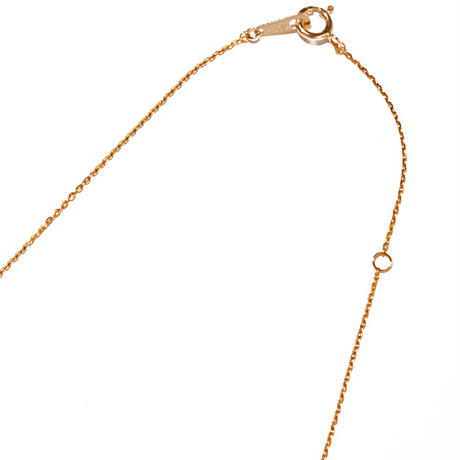tiny necklace/pink gold