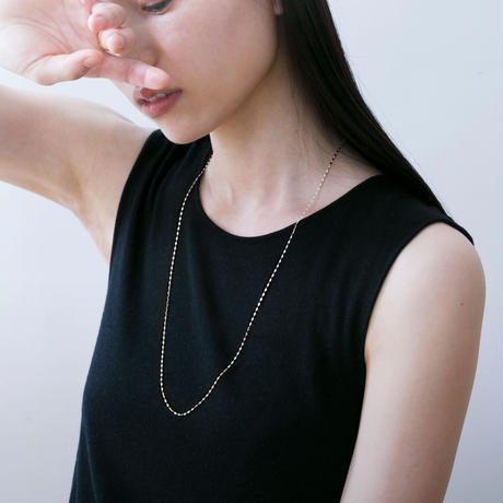 sunlight long necklace / white gold