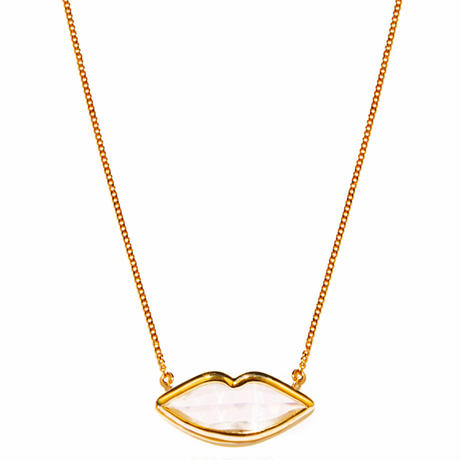 lip necklace/yellow gold