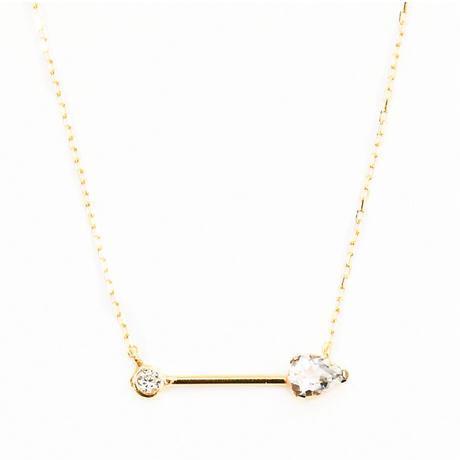 float diamond necklace