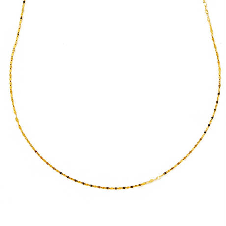 victoria long necklace yellow gold