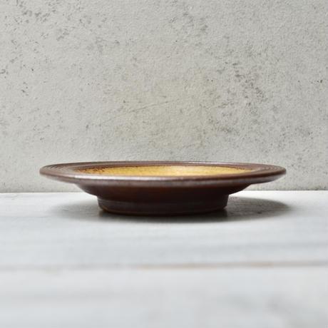 福岡 小石原焼 4寸縁鉄皿 飴