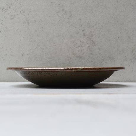 福岡 小石原焼 5寸櫛描き皿 白