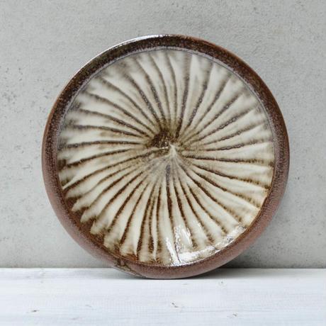 福岡 小石原焼 6寸刷毛目皿 白