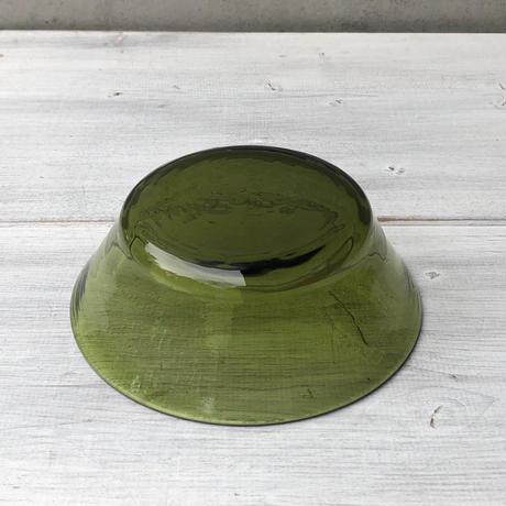 星耕硝子 5寸浅鉢 緑