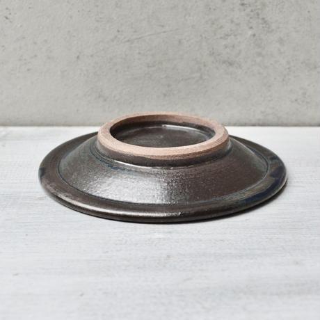 福岡 小石原焼 4寸縁鉄皿 青