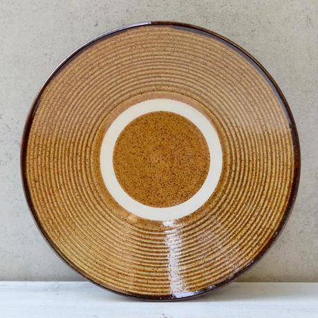 沖縄  糸満 8寸皿(飴線巻き)