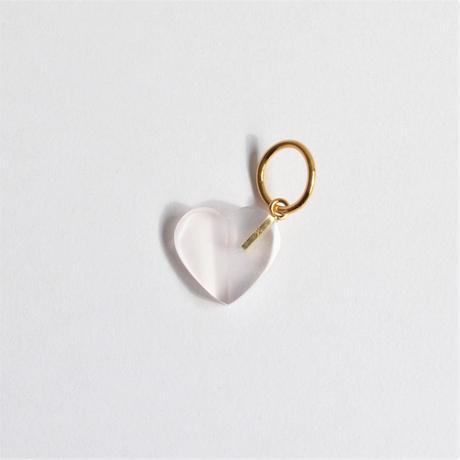 Heart charm (Rose quartz)