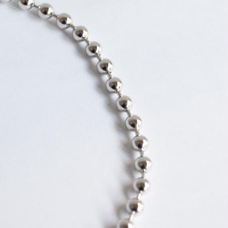 5mm ball chain necklace (silver / S size: 38cm)