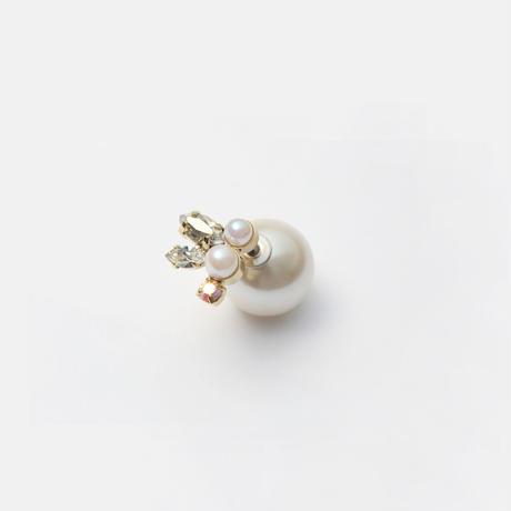 bijoux pierce (pearl×swarovski / small)