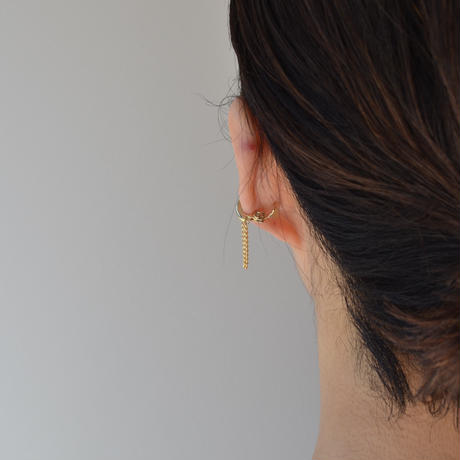 LIMITED COLLECTION 【Chain earring (gold × gold)】