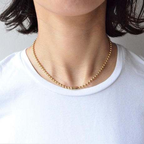 3.5mm ball chain necklace (gold / S size: 38cm)