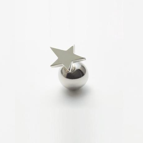 star pierce (small / silver)