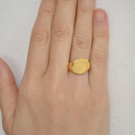 signet ring (diagonal / gold / silve925 )
