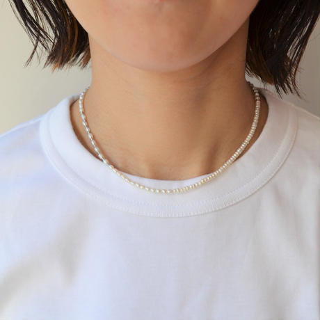 LIMITED COLLECTION 【Baroque pearl ball chain necklace (baby pearl)】