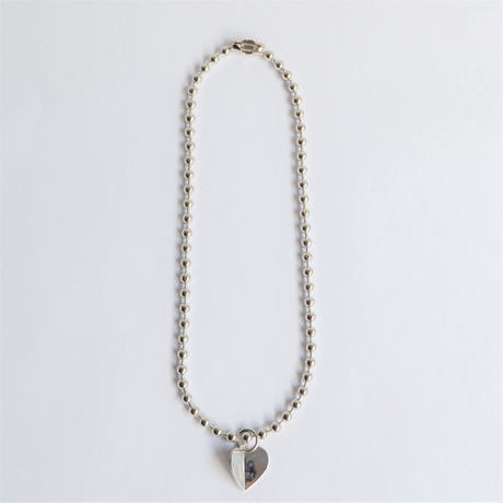 3.5mm ball chain necklace (silver / S size: 38cm)