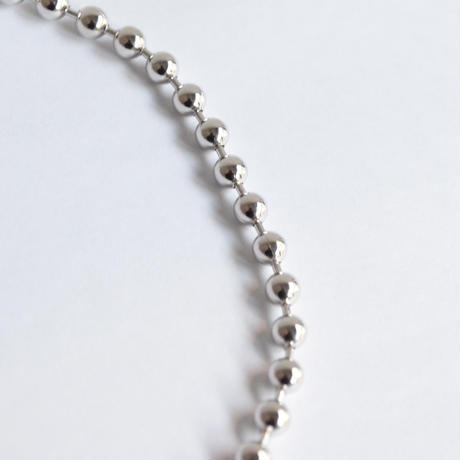 5mm ball chain bracelet (silver / S size: 18cm)