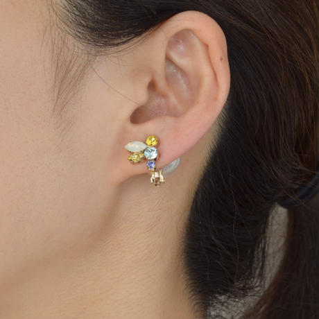bijoux earring(swarovski/yellow/small)