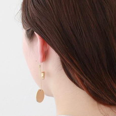 23mm gold circle / k10 post pierced earring