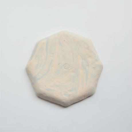 MAYU 15 TH Anniversary × Akiko Kizu  【Jewelry tray (octagon /light blue / white)】