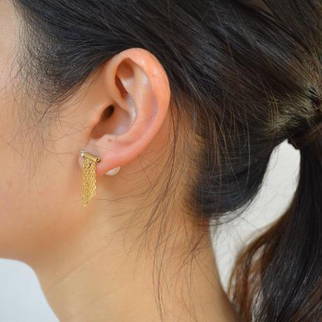fringe pierce (short / gold)