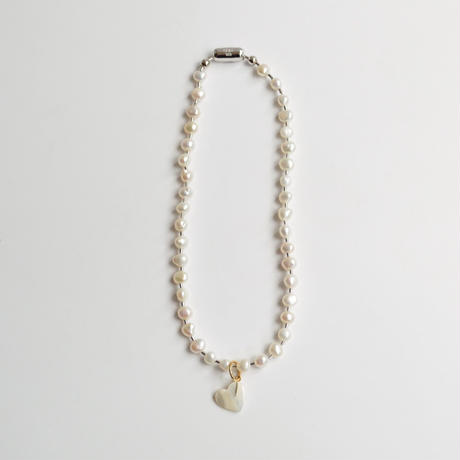 LIMITED COLLECTION 【Freshwater pearl ball chain necklace (small)】