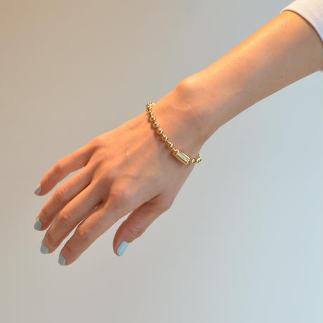5mm ball chain bracelet (gold / S size: 18cm)
