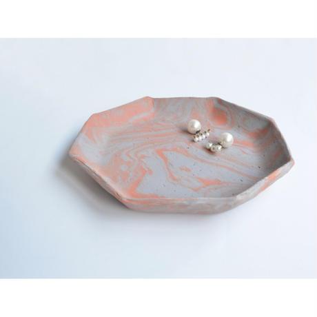 MAYU 15 TH Anniversary × Akiko Kizu  【Jewelry tray ( octagon/ gray / brown】