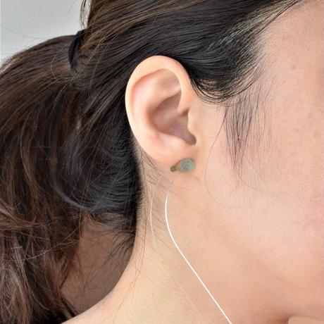 Moss Aquamarine K18 post pierced earring