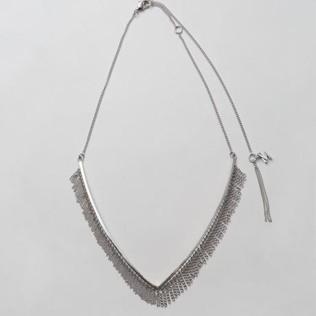 Fringe Necklace(Vtype/Silver)