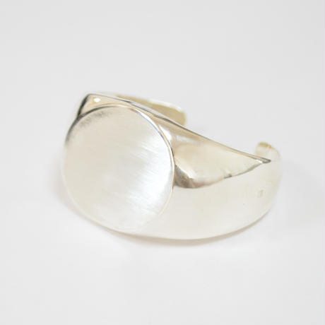 【ORDER】signet bangle (diagonal / silver / silver925)