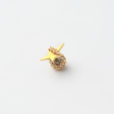 2way star pierce (front type/cubic zirconia/10mm paveball catch)