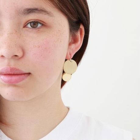 23mm circle / k10 post pierced earring