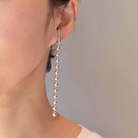 LIMITED COLLECTION【ball chain earring ( 5mmφ / 80mm / silver )】