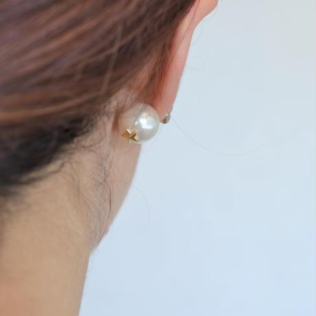 bijoux pierce ( 4crystals / violet / star back)