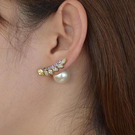 bijoux pierce crystals,5 pearls