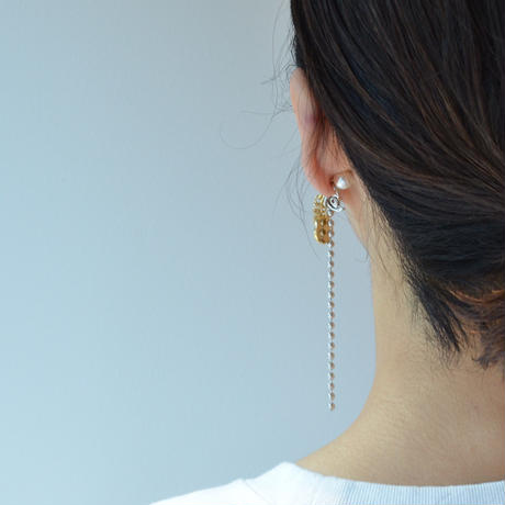 LIMITED COLLECTION【silver ball chain × circle earring】