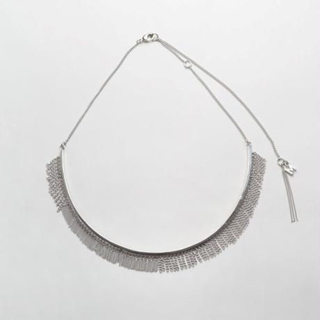 Fringe Necklace(Round type/Silver)
