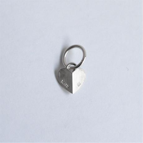 Tiny heart charm (silver)